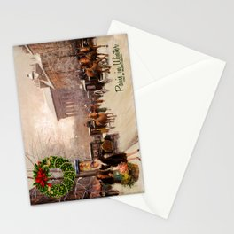 Vintage Christmas Paris in Winter Stationery Cards