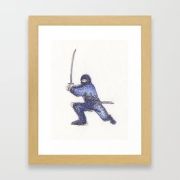 Blue Ninja Framed Art Print