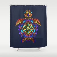 turtle Shower Curtains featuring Turtle by ArtLovePassion