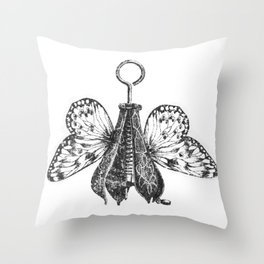 Pear Fly Throw Pillow