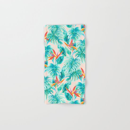 Tropical Paradise Pale Peach Hand & Bath Towel