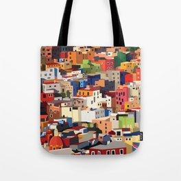 Mexico historical town cityscape (Guanajuato) Tote Bag