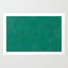 Circles and Spirals Art Print