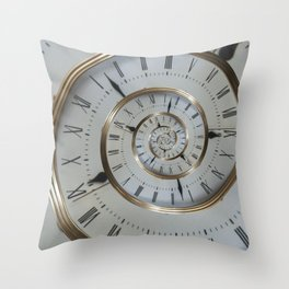 Time goes on and on.... Throw Pillow