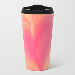 Abstract Tropical Pastel Rainbow Heart Pattern | Valentine's Day Travel Mug