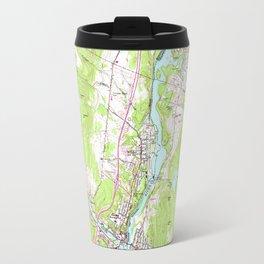 Vintage Lebanon & Hanover New Hampshire Map (1959) Travel Mug