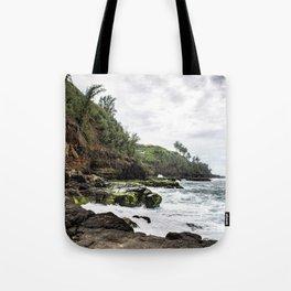 On the Rocks at Secret Beach Tote Bag