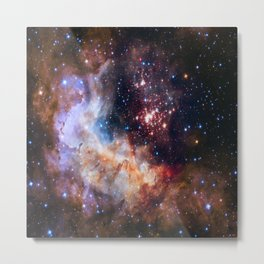 picture of star by hubble : celestial firework Metal Print