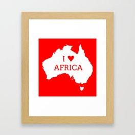 I Love Africa Framed Art Print