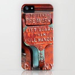 new york city ... fire alarm iPhone Case