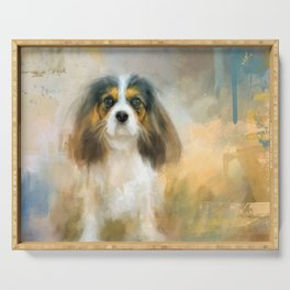The Attentive Cavalier Serving Tray