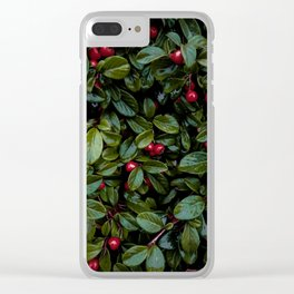 Christmas Cotoneaster Clear iPhone Case