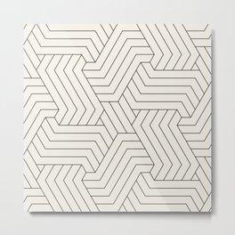 Off-White Interlaced Seamless Pattern Metal Print