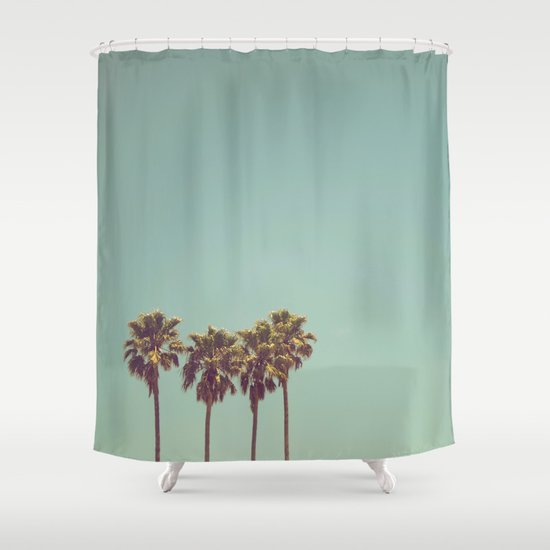Vintage Palm Trees Shower Curtain By Summer Dreams Society6