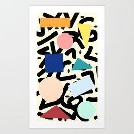Burros de colores Art Print