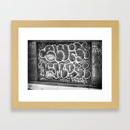 Grafitti Framed Art Print