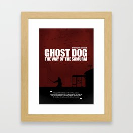 Ghost Dog - The Way of the Samurai. Minimal Movie Poster. A Film by Jim Jarmusch. Framed Art Print