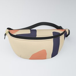 Coral and Blue Fanny Pack