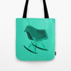 Rocker Chair Blue Tote Bag