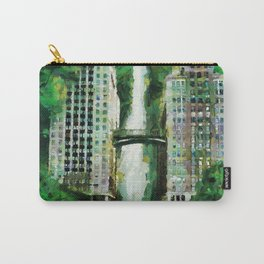 Hotel hidden in the jungle with waterfall Carry-All Pouch