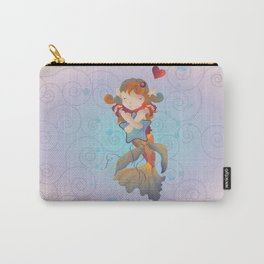 Cute Mermaid hugging a Star Pillow Carry-All Pouch