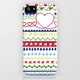 Classic Christmas pattern iPhone Case
