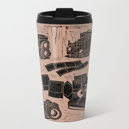 Weapons Of Mass Creation - Photography (blk on brown) Metal Travel Mug