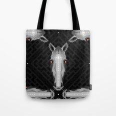 Horse Pattern - Black version Tote Bag