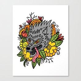 wild wolf Canvas Print