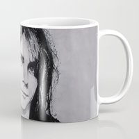 kurt rahn Mugs featuring Cobain Kurt Portrait. by Dioptri Art