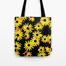 Funky Yellow Flowers Tote Bag