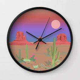 Monument Valley illustration Wall Clock