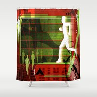 running Shower Curtains featuring Running by Tami Cudahy