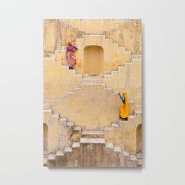 Amber Stepwell II, Rajasthan, India Metal Print