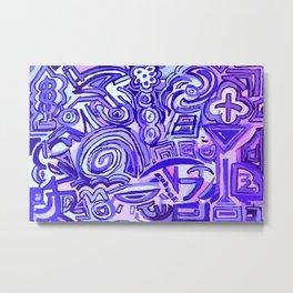Violet Symbols Metal Print