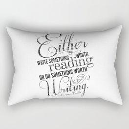 Benjamin Franklin Quote Rectangular Pillow