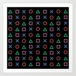 Classic Play Station Controller Buttons Art Print