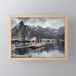 Lofoten Islands, Norway Mountain Landscape Framed Mini Art Print