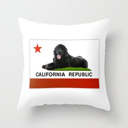 California Newfie Flag! Throw Pillow