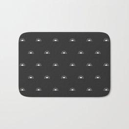 Modern Sunrise - Charcoal Gray Bath Mat