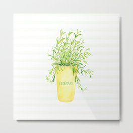 Radiant Rosemary Metal Print