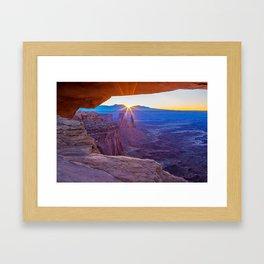 Sunrise Through Mesa Arch Framed Art Print
