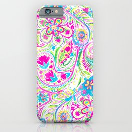 Paisley Watercolor Brights iPhone Case