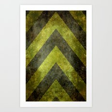 Warning Chevron #101 Art Print