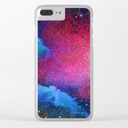Mystical Cosmos Clear iPhone Case