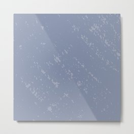 Powdered Blue Metal Print