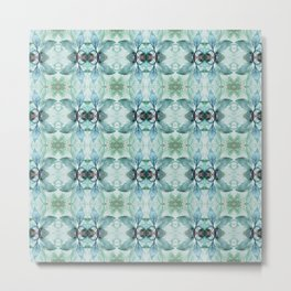 Blue, Green and Taupe Pattern 811 Metal Print