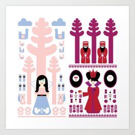 Good vs Evil: Snow White and the Evil Queen Art Print