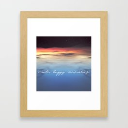 Make Happy Memories Framed Art Print
