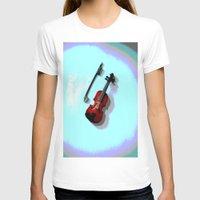 violin T-shirts featuring Violin by Vitta